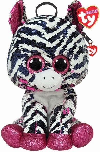 TY Fashion Zoey - Cekinowy plecak Zebra