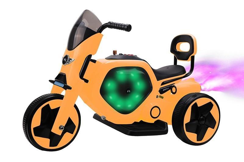 Motorek na baterie żółty