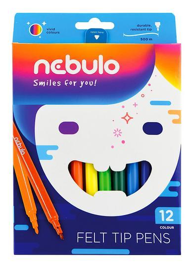 Flamastry 12 kolorów NEBULO