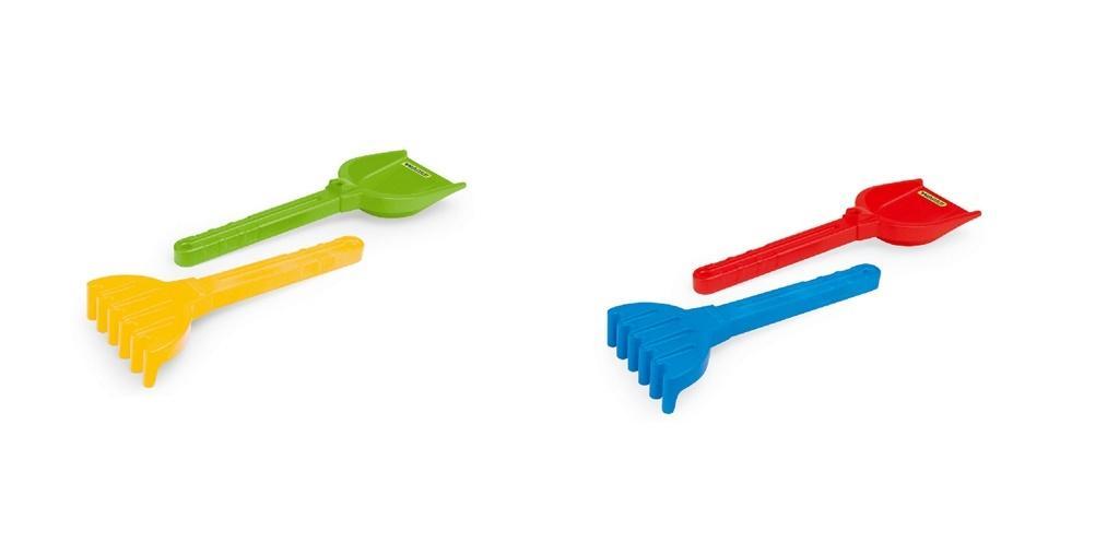 Łopatka i grabie duże 2 kolory