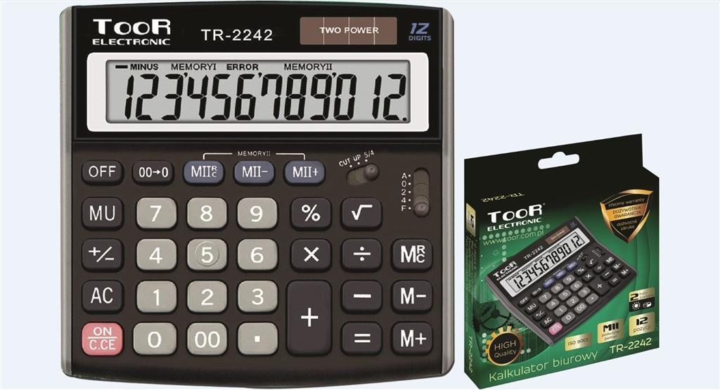 Kalkulator biurowy 12-pozycyjny TR-2242 TOOR