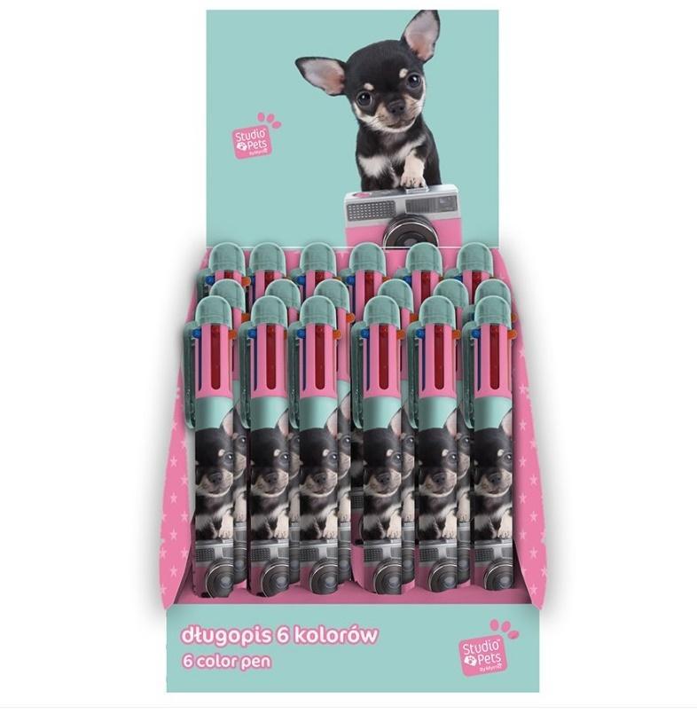 Długopis Studio Pets 6 kolorów PTE-3655D (24szt)