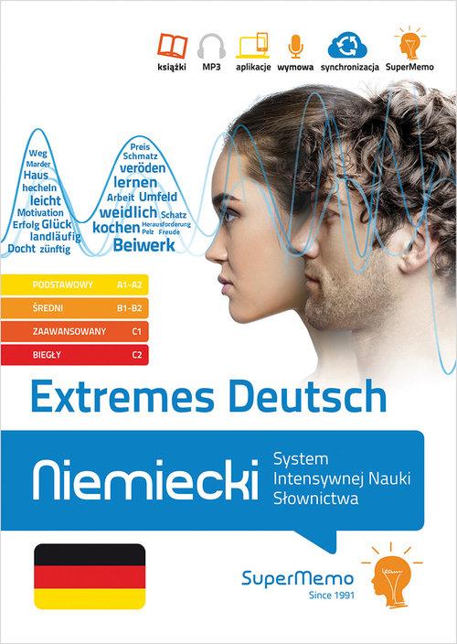 Extremes Deutsch Niemiecki System Intensywnej Nauki Słownictwa (poziom podstawowy A1-A2, średni B1