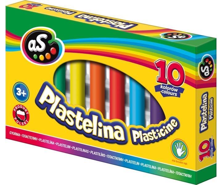 Plastelina 10 kolorów AS