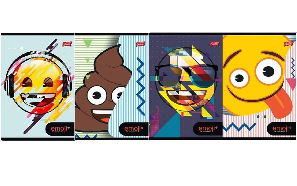 Zeszyt A5/32K linia dwukolorowa Emoji (15szt)
