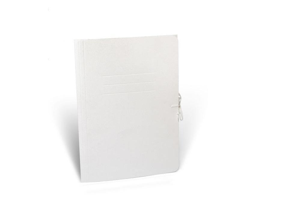 Teczka wiązana A4 biurowa biała
