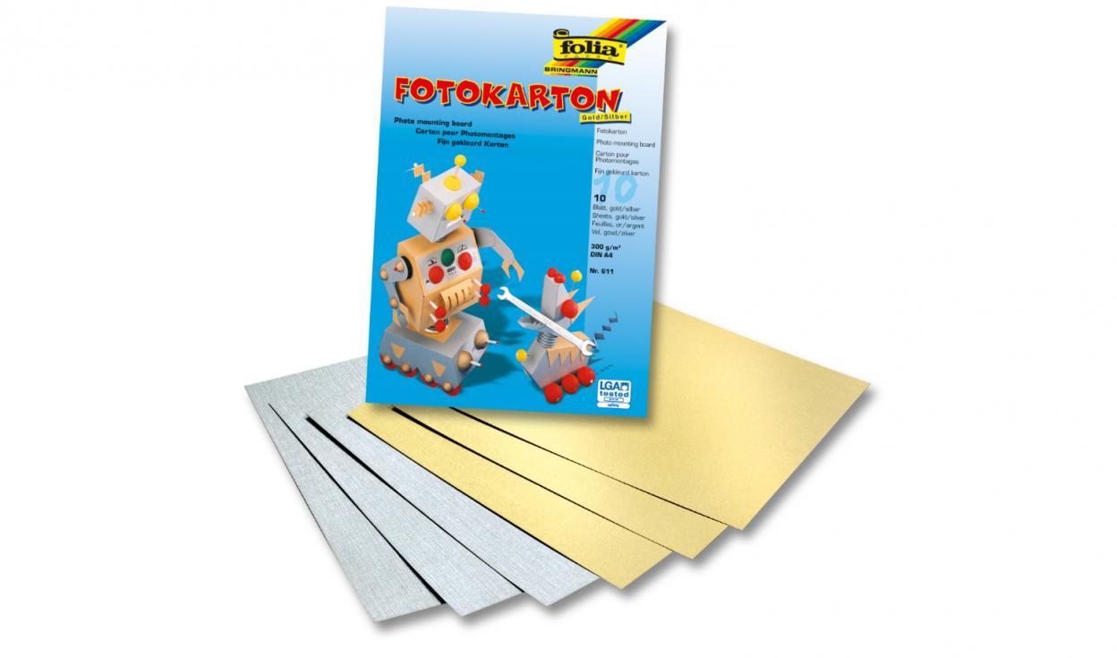 Blok z papierem kolorowym A4/10K 300g FOLIA PAPER