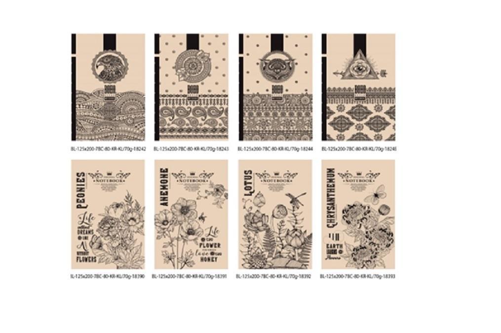 Notatnik ozdobny 125x200/80K kratka FRESH