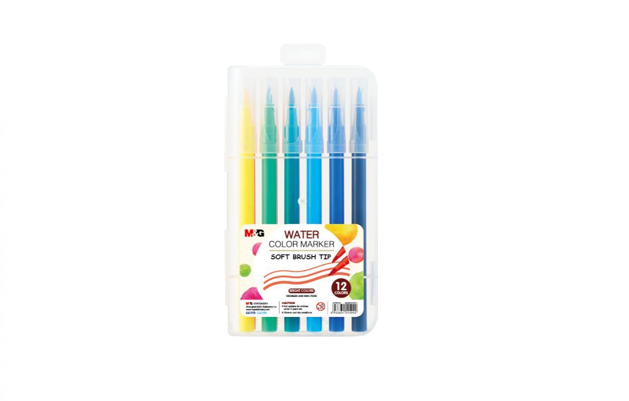 Pisak artystyczny pędzelkowy 12 kolorów M&G