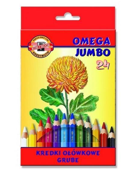 Kredki Omega Jumbo 24 kolory