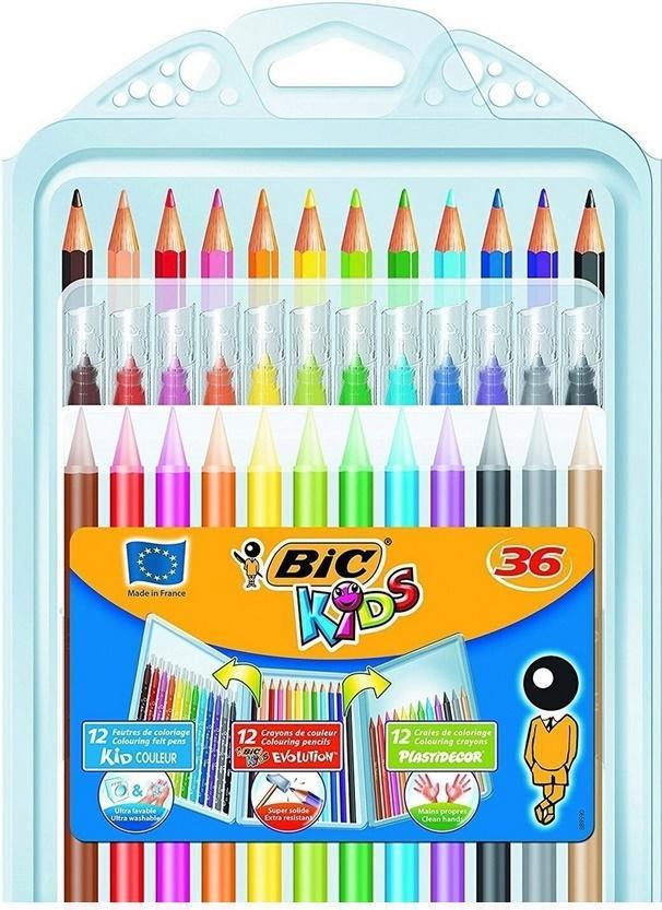 Zetaw koloringowy 3w1 Kredki 36szt BIC