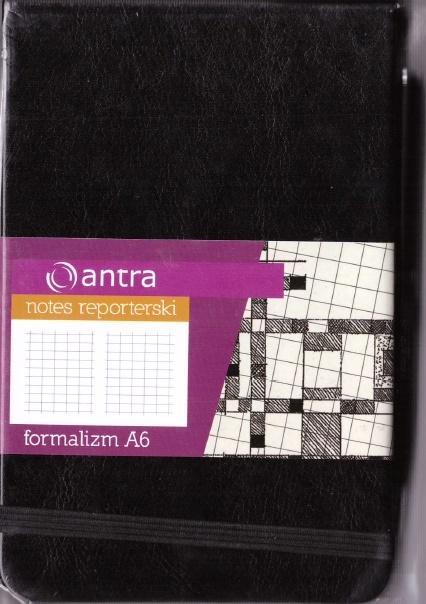 Notes Reporterski A6 Kratka Formalizm Czarny ANTRA