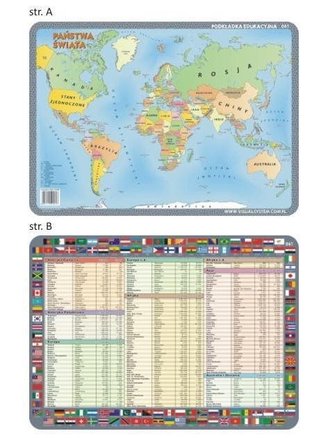 Podkładka edu. 061 - Państwa świata