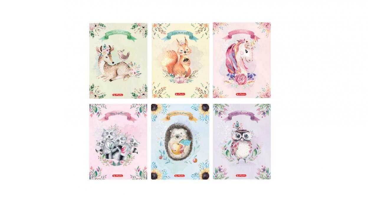 Zeszyt A5/32K Linia podwójna Fairy animals (10szt)