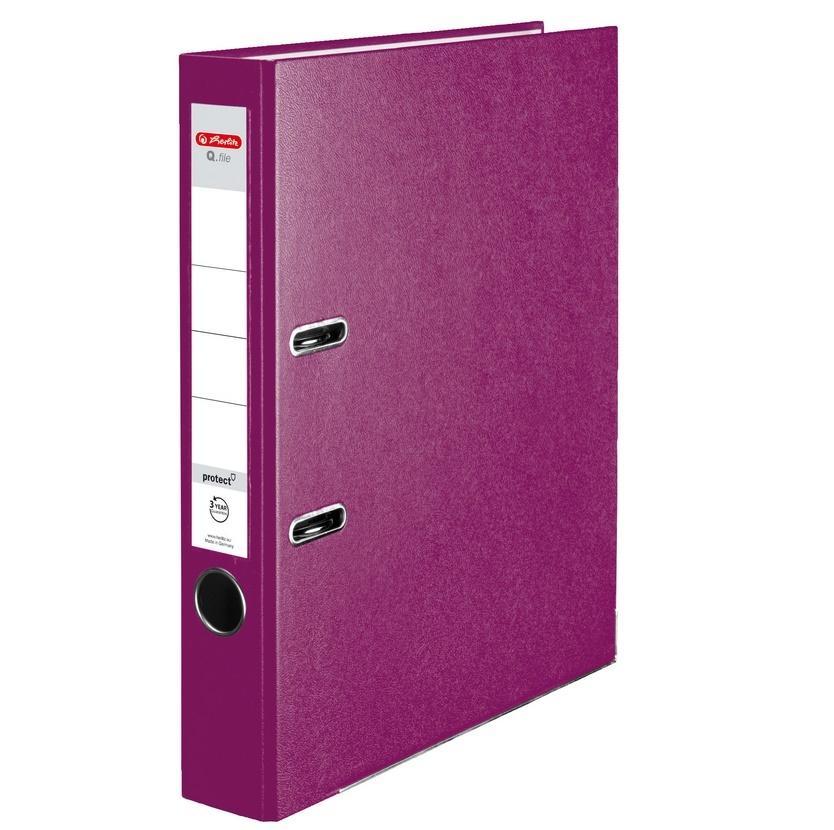 Segregator A4 5cm PP jagodowy Q file