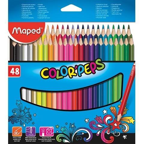 Kredki Colorpeps trójkątne 48 kolorów MAPED