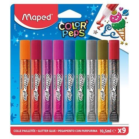 Klej z brokatem Colorpeps 9 kolorów MAPED