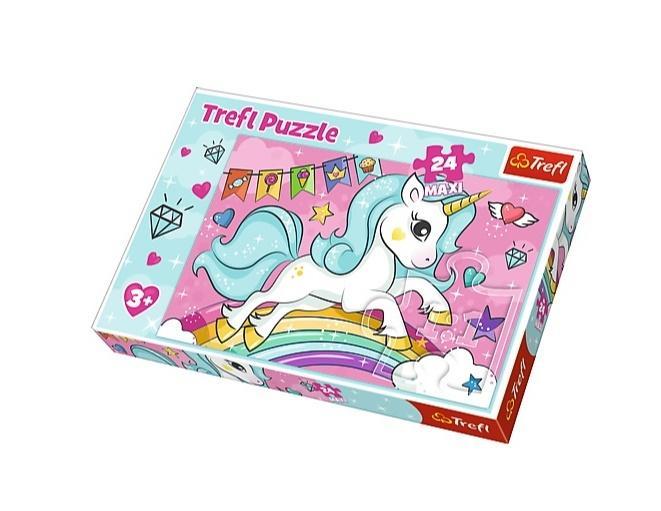 Puzzle 24 maxi Słodki Jednorożec TREFL
