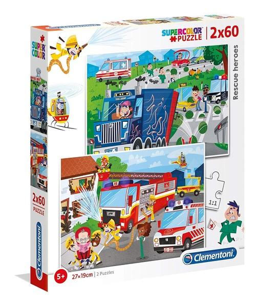 Puzzle Supercolor Rescue Heroes 2x60