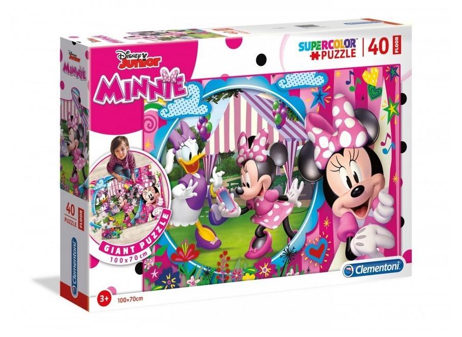 Puzzle 40 podłogowe Super kolor Minnie