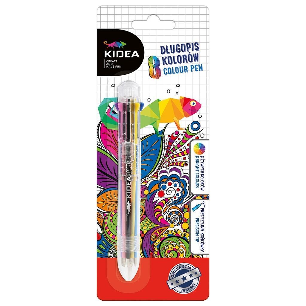 Długopis 8 kolorów KIDEA