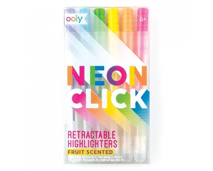 Flamastry na kliknięcie pachnące neon 6 kolorów