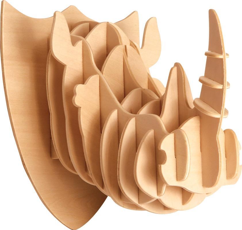 Łamigłówka drewniana Gepetto - Głowa nosorożca G3