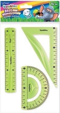 Zestaw geometryczny 3 elementy 15cm BAMBINO