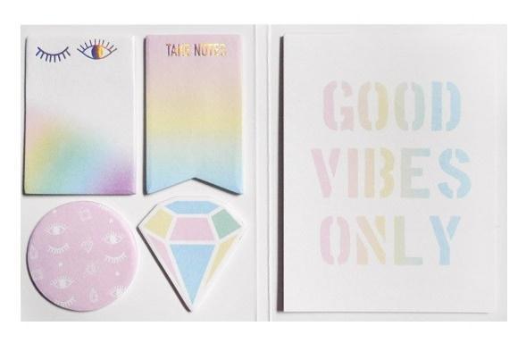 Karteczki samoprzylepne Good vibes only + notes