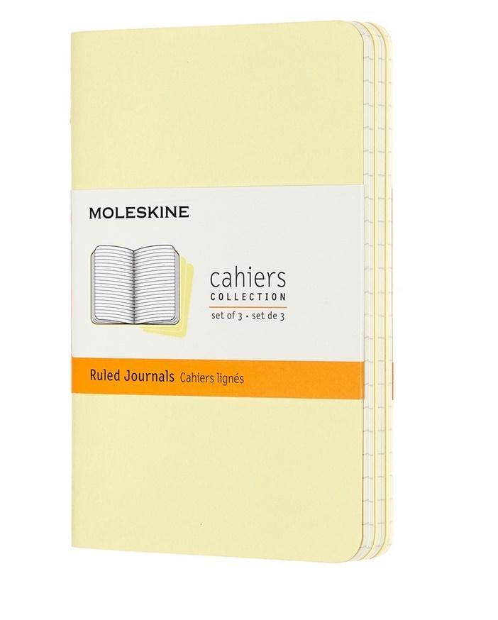Zestaw 3 zeszytów Cahier Journals 9x14 linie