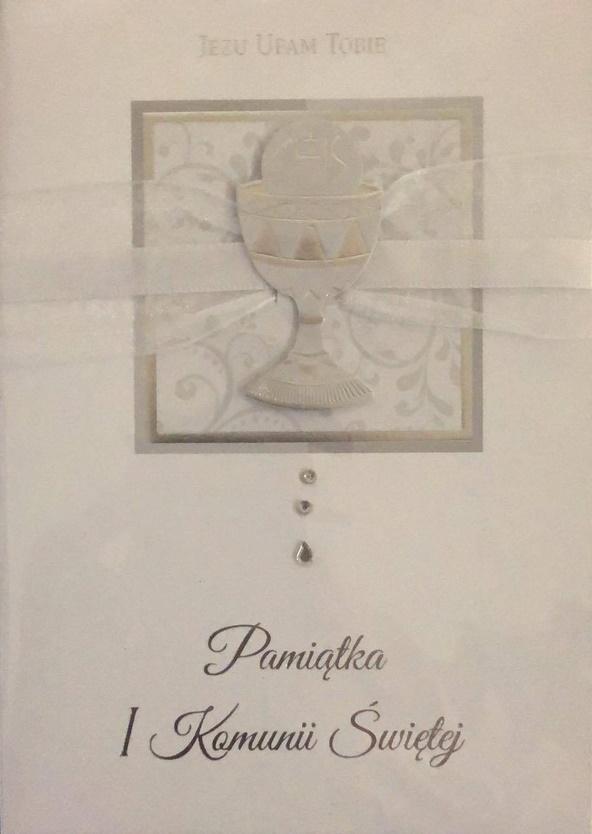 Karnet Komunia Premium B6 + koperta wzór nr 002
