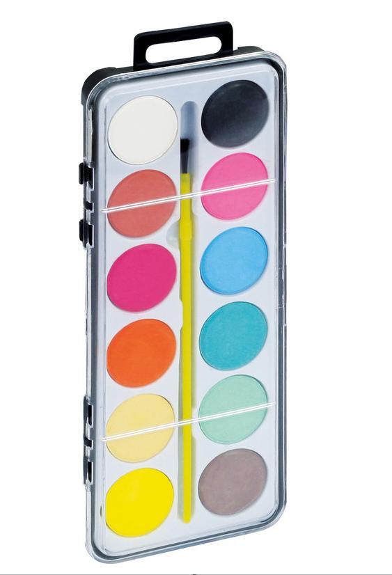Farby wodne 12 kolorów ekonomiczne GRAND