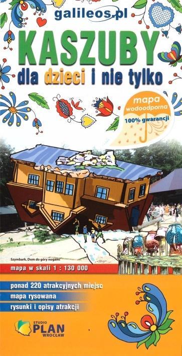 Mapa wodoodoprna - Kaszuby dla dzieci i nie tylko