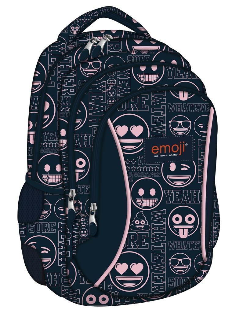 Plecak 3-komorowy Emoji Pink