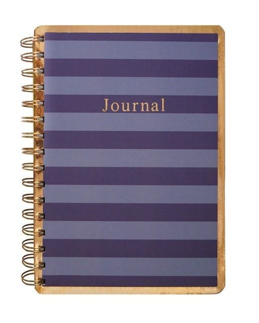 Kołonotes A5/150K fioletowe paski Journal