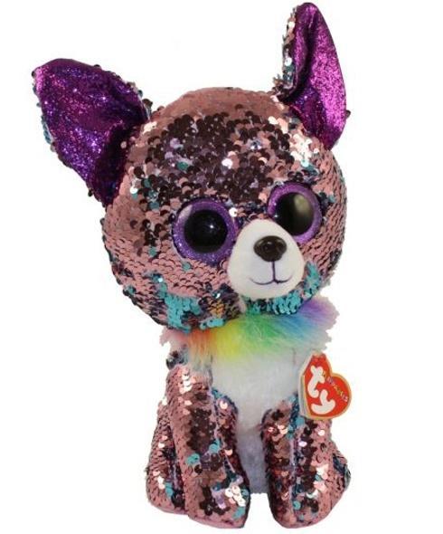 Beanie Boos Yappy - cekinowy Chihuahua 42cm