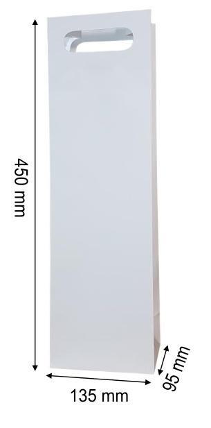 Torebka ozdobna koniak jednobarwna ucho MERplus