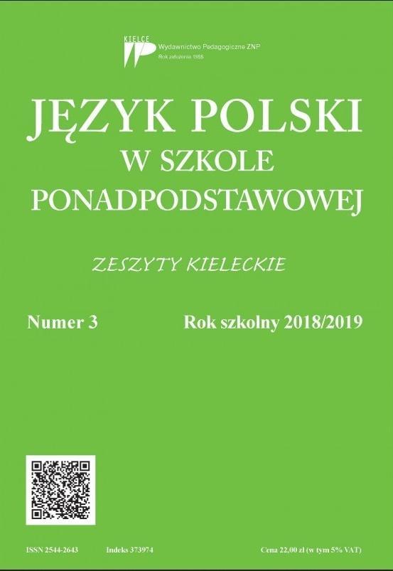 Język polski w szkole ponadpodst. nr 3 2018/2019