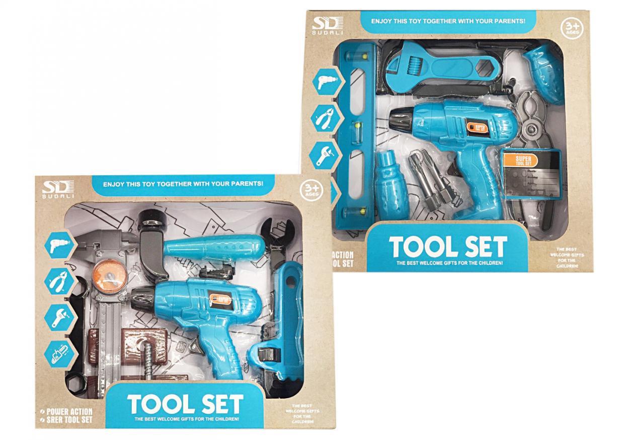 Zestaw narzędzi z wiertarką