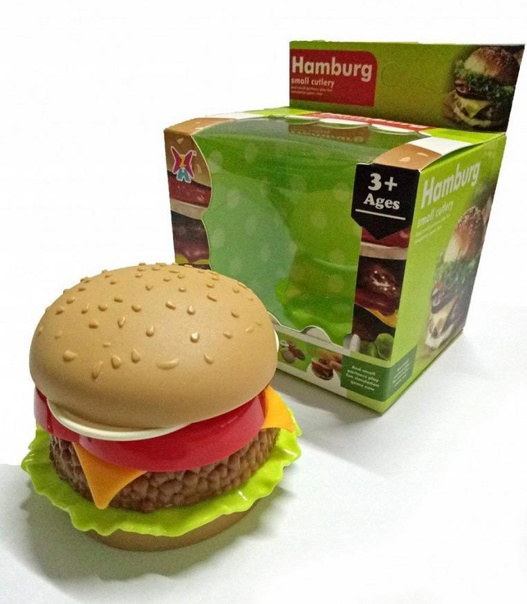 Hamburger w kartoniku 8 cm