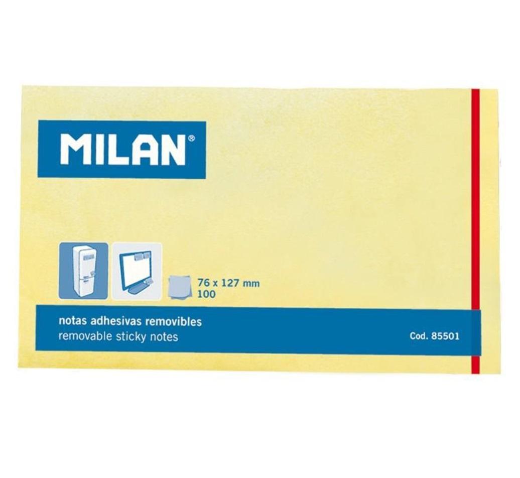 Karteczki samoprzylepne 127x76 /100K żółte MILAN