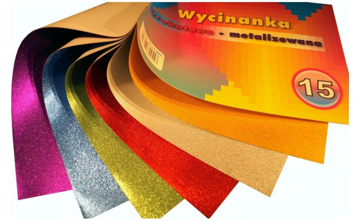 Wycinanka A4/6K brokatowo-metalizowana 15