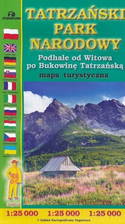Mapa turystyczna - Tatrzański PN 1:25 000