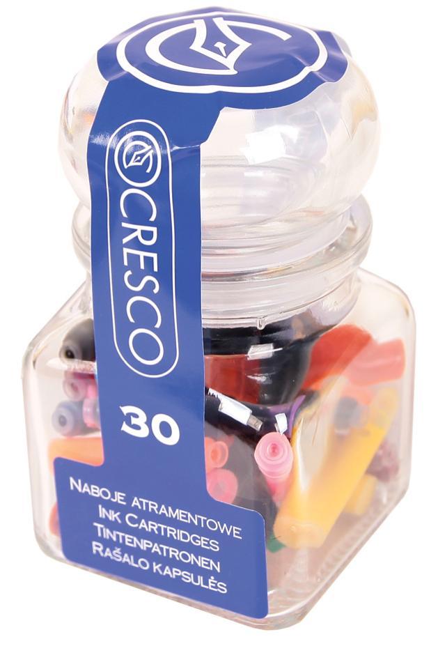 Naboje do piór mix kolorów słoiczek 30 sztuk