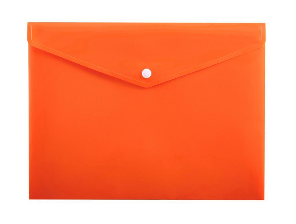 Koperta na zatrzask A5 PP-114 pomarańczowa PENMATE