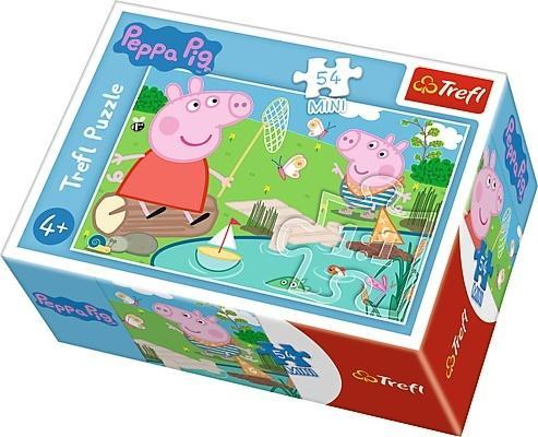 Puzzle 54 mini Wesoły dzień Świnki Peppy 1 TREFL