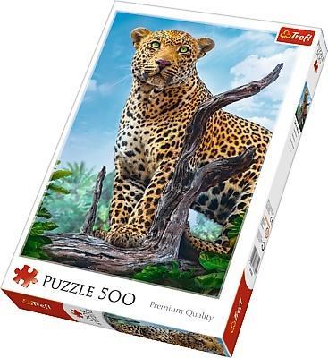 Puzzle 500 Dziki lampart TREFL