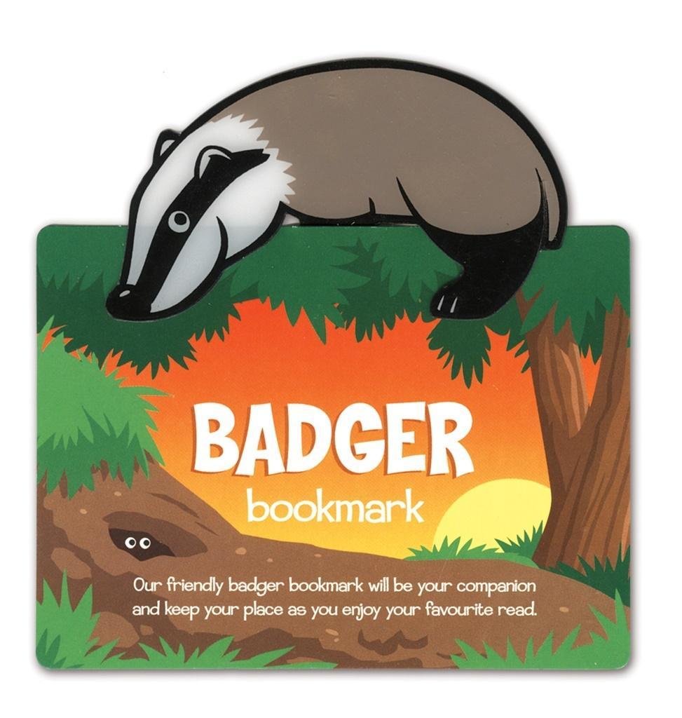 Zwierzęca zakładka do książki - Badger - Borsuk