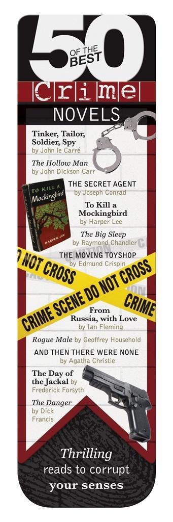 50 BEST - Crime - magnetyczna zakładka do książki