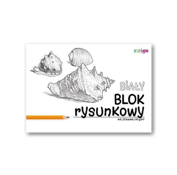 Blok rysunkowy biały A4/20K (10szt) STRIGO